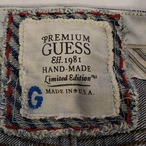 Guess Jeans - Guess Handmade Men's Denim Jeans USA Made Size 33